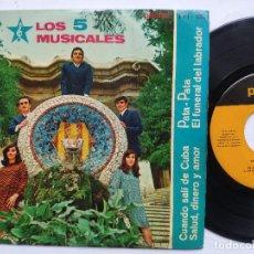 Discos de vinilo: LOS 5 MUSICALES - EP SPAIN PS - PATA PATA . Lote 198025192