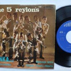 Discos de vinilo: THE 5 REYLON' S - EP SPAIN PS - MINT * YENKA TWIST * FONOPOLIS 1965. Lote 198025836
