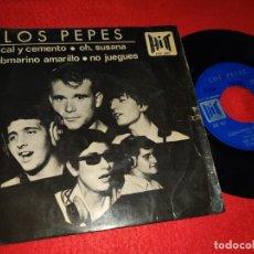 Disques de vinyle: LOS PEPES CAL Y CEMENTO/OH SUSANA/SUBMARINO AMARILLO/NO JUEGUES EP 1966 BEATLES LEER ESTADO!. Lote 198026158