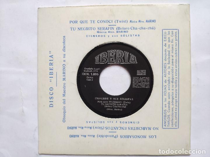 CISNEROS Y SUS SOLISTAS - EP SPAIN PS - MINT * LOS MONOSABIOS * IBERIA 1970 (Música - Discos de Vinilo - EPs - Grupos Españoles de los 70 y 80)