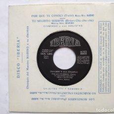 Discos de vinilo: CISNEROS Y SUS SOLISTAS - EP SPAIN PS - MINT * LOS MONOSABIOS * IBERIA 1970. Lote 198026297