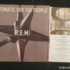 Discos de vinilo: R.E.M.: AUTOMATIC FOR THE PEOPLE (L.P.) WARNER 1992 (GERMANY) + INSERT !!!!. Lote 198036035