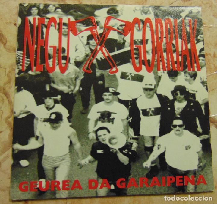 NEGU GORRIAK – GEUREA DA GARAIPENA - SINGLE 1991 (Música - Discos - Singles Vinilo - Punk - Hard Core)