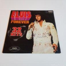 Disques de vinyle: ELVIS PRESLEY - FOREVER 32 HITS - DOBLE LP. Lote 198045527