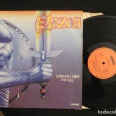 Discos de vinil: SAXON: STRONG ARM METAL (SPANISH L.P). Lote 198055192