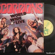 Discos de vinilo: SCORPIONS: WORLD WIDE LIVE (L.P.) (SOLO DISCO 2) !!!!. Lote 198056053