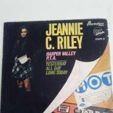Disques de vinyle: JEANNIE C. RILEY HARPER VALLEY PTA / YESTERDAY ALL DAY LONG TODAY ( 1968 EXIT RECORDS ESPAÑA ). Lote 198056898