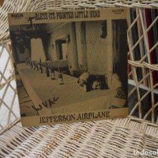 Discos de vinilo: JEFFERSON AIRPLANE – BLESS ITS POINTED LITTLE HEAD.LP ORIGINAL USA 1969.CARPETA TEXTURA.RCA LSP-413. Lote 198057120