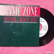 Discos de vinilo: SINGLE PANIC ZONE ‎– WE WILL ROCK YOU - BUS-106-PRO - PROMO - SPAIN PRESS - 1SIDED - QUEEN (VG+/NM). Lote 198060085