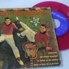 Discos de vinilo: DUO DINÁMICO -NOSTALGIA/ LA CHICA DE MIS SUEÑOS + 2 MAS ..EP- ODEÓN-1961 VINILO ROJO. Lote 198061667