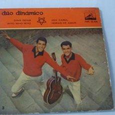 Discos de vinilo: DUO DINAMICO - DING DONG , WHO WHO WHO , OH CAROL , HORAS DE AMOR - EP DE 1960..LA VOZ DE SU AMO. Lote 198061930