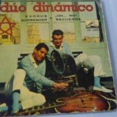 Discos de vinilo: DUO DINAMICO - EXODUS , SURRENDER , + 2 TEMAS MAS ..EP DE 1961. Lote 198062105