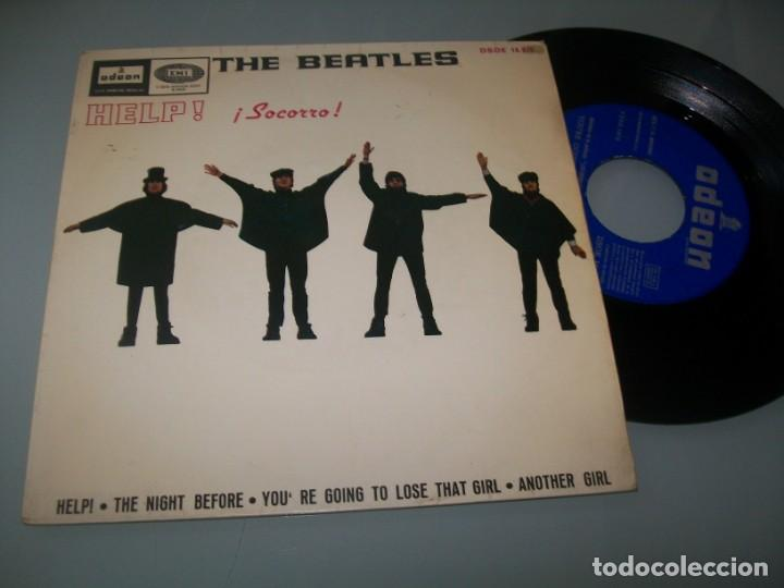 THE BEATLES - HELP , THE NIGHT BEFORE + 2 TEMAS MAS EMI - ODEON - 1965 - EP SPAIN (Música - Discos de Vinilo - EPs - Pop - Rock Extranjero de los 50 y 60	)