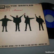 Disques de vinyle: THE BEATLES - HELP , THE NIGHT BEFORE + 2 TEMAS MAS EMI - ODEON - 1965 - EP SPAIN. Lote 198063531