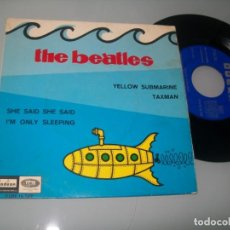 Disques de vinyle: THE BEATLES - YELLOW SUBMARINE - TAXMAN ,SHE SAID SHE SAID , IM ONLY SLEEPING ..SINGLE DE EMI 1966. Lote 198063740