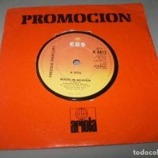 Disques de vinyle: FREDDIE MERCURY - ( QUEEN ) - MADE IN HEAVEN .. SINGLE DE 1985 - CBS - U.K. Lote 198064003