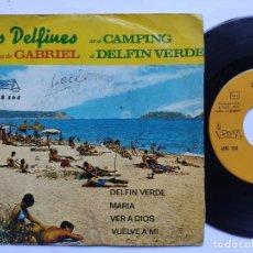 Discos de vinilo: LOS DELFINES CON LA VOZ DE GABRIEL - EP SPAIN PS - DELFIN VERDE / MARIA / VER A DIOS / VUELVE A MI. Lote 198069411