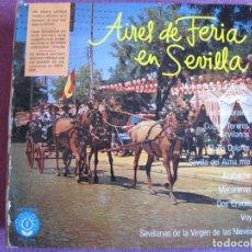 Disques de vinyle: LP - AIRES DE FERIA EN SEVILLA (LOS ROMEROS DE LAS NIEVES, BANDA REGSON DE MADRID, A. MANZANO). Lote 198102415