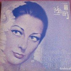 Discos de vinilo: LP - CONCHA PIQUER - LA VOZ DE CONCHA PIQUER (DOBLE DISCO, SPAIN, EMI ODEON 1976). Lote 198105346