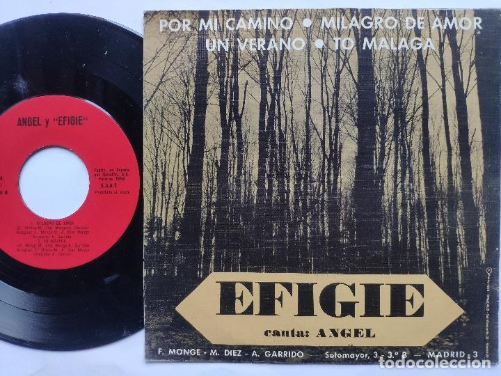 Discos de vinilo: EFIGIE canta ANGEL - EP Spain PS - MINT * POR MI CAMINO / MILAGRO DE AMOR / UN VERANO / TO MALAGA - Foto 2 - 198122791