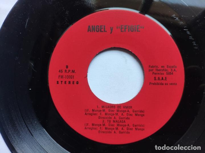 Discos de vinilo: EFIGIE canta ANGEL - EP Spain PS - MINT * POR MI CAMINO / MILAGRO DE AMOR / UN VERANO / TO MALAGA - Foto 4 - 198122791