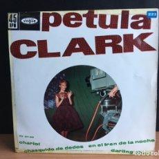 Discos de vinilo: PETULA CLARK - CHARIOT (EP) (HISPAVOX, S.A., DISQUES VOGUE) HV 27-85 (D:NM). Lote 198125981