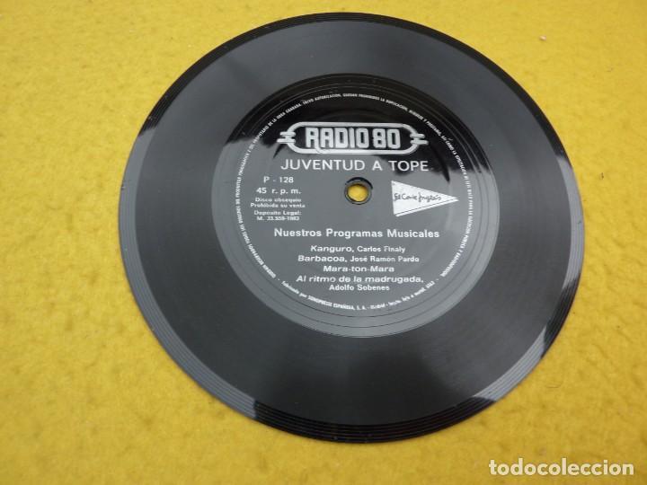SINGLE FLEXI DISC - RADIO 80 - JUVENTUD A TOPE - KANGURO - JOSE RAMON PARDO - BARBACOA EX (Música - Discos de Vinilo - Maxi Singles - Grupos Españoles de los 70 y 80)