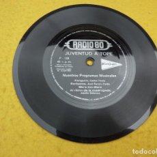 Discos de vinilo: SINGLE FLEXI DISC - RADIO 80 - JUVENTUD A TOPE - KANGURO - JOSE RAMON PARDO - BARBACOA EX. Lote 198136520