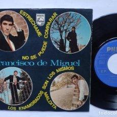 Discos de vinilo: FRANCISCO DE MIGUEL - EP SPAIN PS - EX * ESTRECHAME / NO SE PUEDE COMPARAR + 2. Lote 198139505
