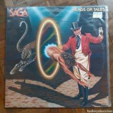 Discos de vinilo: SAGA. HEADS OR TALES. POLYDOR 815 410-1. 1983.. Lote 198158585