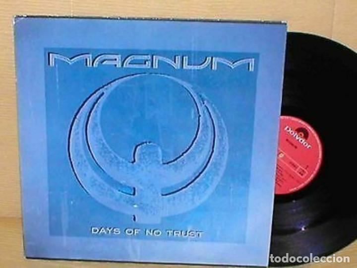 MAGNUM SPAIN MAXI 45 RPM DAYS OF NO TRUST HARD ROCK HEAVY METAL TONY CLARKIN (Música - Discos de Vinilo - Maxi Singles - Heavy - Metal)