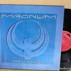 Discos de vinilo: MAGNUM SPAIN MAXI 45 RPM DAYS OF NO TRUST HARD ROCK HEAVY METAL TONY CLARKIN. Lote 198158707