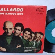 Discos de vinilo: GALLARDO Y SUS BARDOS HITS - EP SPAIN PS - EX * EL DIA MAS LARGO / EL MADISON MADISONISTAS + 2. Lote 198163432