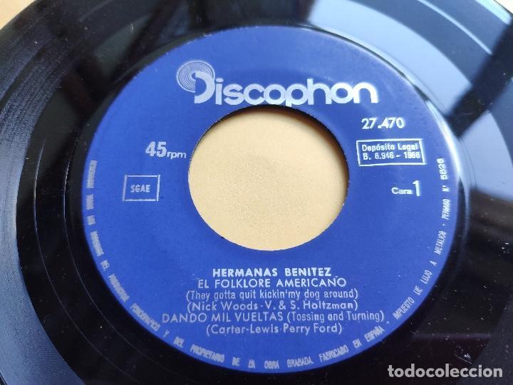 Discos de vinilo: HERMANAS BENITEZ - EP Spain PS - VUELVE, BABY, VUELVE / DANDO MIL VUELTAS / EL FOLKLORE AMERICANO +1 - Foto 3 - 198165506