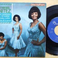 Discos de vinilo: HERMANAS BENITEZ - EP SPAIN PS - VUELVE, BABY, VUELVE / DANDO MIL VUELTAS / EL FOLKLORE AMERICANO +1. Lote 198165506