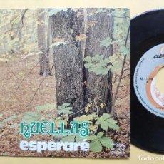 Discos de vinilo: HUELLAS - 45 SPAIN PS - MINT * ESPERARE / BORRACHO DE PAN Y AGUA - ACCION LABEL. Lote 198166251
