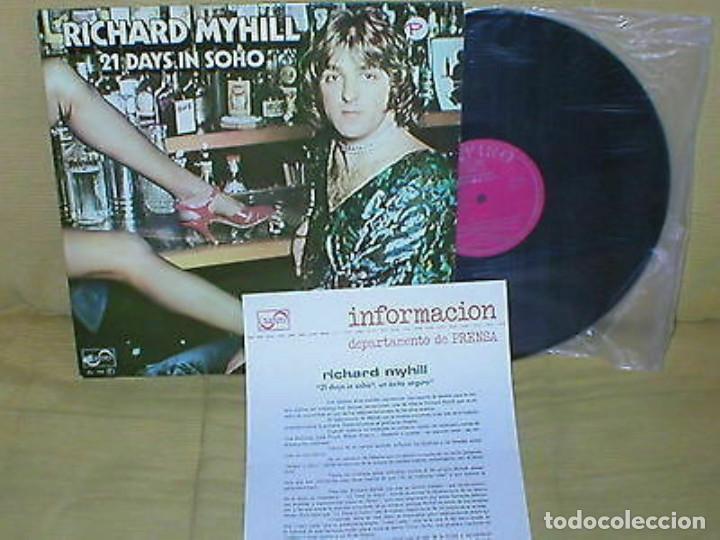 RICHARD MYHILL SPAIN LP 21 DAYS IN SOHO 1976 ZAFIRO PROMO+ INSERT ORIGINAL MUY BUEN ESTADO !! (Música - Discos - LP Vinilo - Pop - Rock - Internacional de los 70)