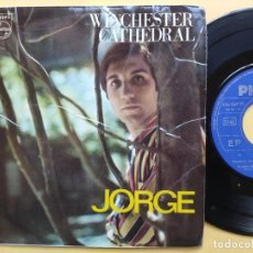 Discos de vinilo: JORGE - EP SPAIN PS - EX * WINCHESTER CATHEDRAL / REACH OUT I' LL BE THERE ( FOUR TOPS COVER ) + 2. Lote 198189338