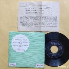 Discos de vinilo: TODOS A LA LUNA - EP SPAIN PS - MINT * CON FANTASTICA HOJA PROMO * JOSE LUIS DE UTIEL . Lote 198191597