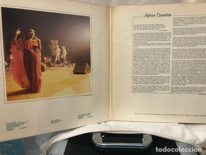 Discos de vinilo: Miriam Makeba African Convention 1980 - Foto 2 - 198202510