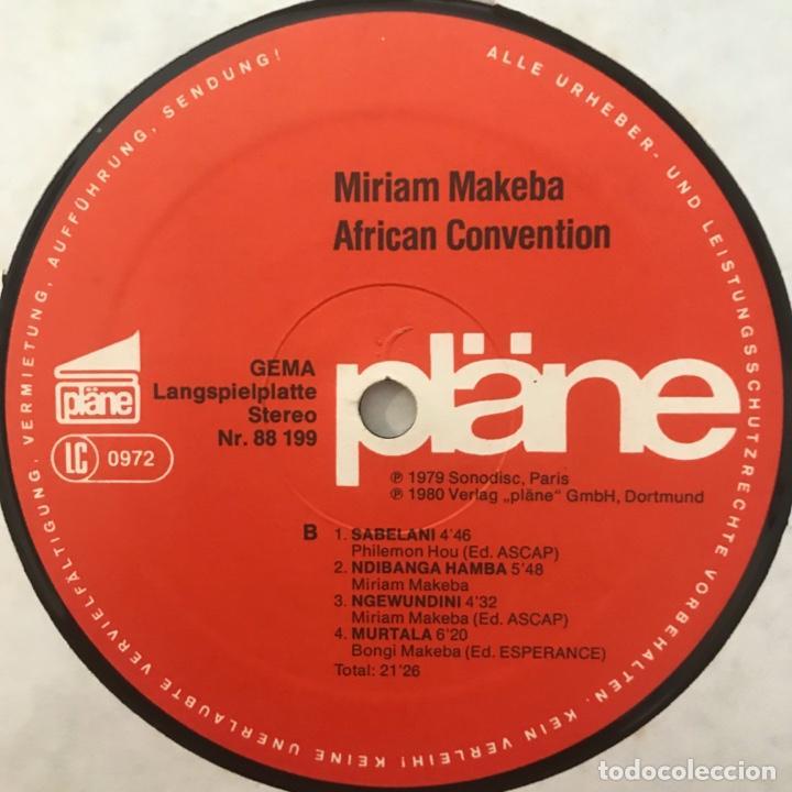 Discos de vinilo: Miriam Makeba African Convention 1980 - Foto 4 - 198202510