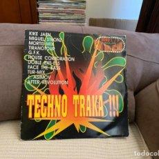 Discos de vinilo: VARIOUS – TECHNO TRAKA!!!. DISCO VINILO. ENTREGA 24H. ESTADO VG+ /VG. Lote 198225407