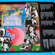Discos de vinilo: THE CARS ALEMANIA LP 1987 DOOR TO DOOR POP ROCK SYNTH POP INSERT + LETRAS ELEKTRA RICK OCASEK. Lote 198231856