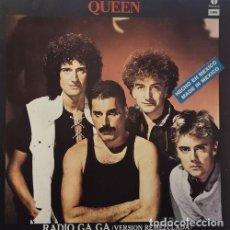 Discos de vinilo: QUEEN FREDDIE MERCURY - RADIO GAGA - MAXI SINGLE DE 12 PULGADAS EDICION MEJICANA #. Lote 198242352