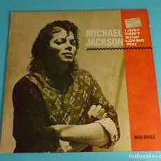 Discos de vinilo: MICHAEL JACKSON WITH SIEDAH GARRETT. I JUST CAN'T STOP LOVING YOU. EPIC 1987. Lote 198254893