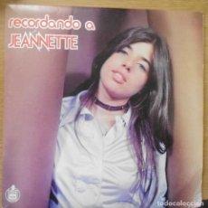 Discos de vinilo: LP DISCO VINILO RECORDANDO A JEANNETTE. Lote 198257550