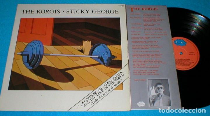 THE KORGIS SPAIN LP 1981 STICKY GEORGE ELECTRONIC SYNTH POP ROCK RIALTO INSERT + LETRAS (Música - Discos - LP Vinilo - Pop - Rock - New Wave Internacional de los 80)