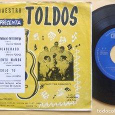 Discos de vinilo: GRACIANO Y SUS CUBAN BOY' S - EP SPAIN PS - MINT * MAESTRO TOLDOS * LAS MAÑANAS DEL DOMINGO. Lote 198304965