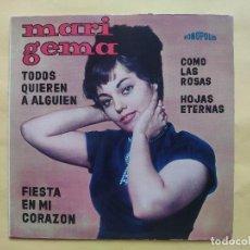 Discos de vinilo: MARI GEMA - EP SPAIN PS - MINT * TODOS QUIEREN A ALGUIEN / FIESTA EN MI CORAZON / COMO LAS ROSAS + 1. Lote 198323783