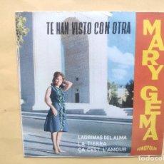 Discos de vinilo: MARY GEMA - EP SPAIN PS - MINT * TE HAN VISTO CON OTRA / LAGRIMAS DEL ALMA / LA TIERRA + 1. Lote 198323833